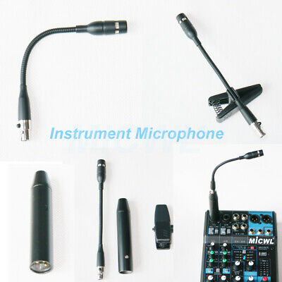 e600 Professional Condenser Instrument Microphone Cardioid Mic XLR Phantom Power