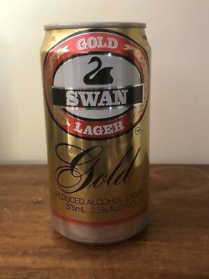 Collectable Swan Gold Lager Misprint BEER CAN 375ml Perth Rare And Hard To Find