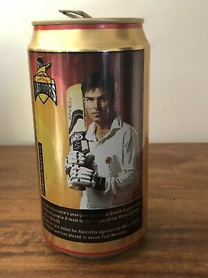 Collectable Swan Gold Lager Western Warriors Damien Martyn BEER CAN 375ml