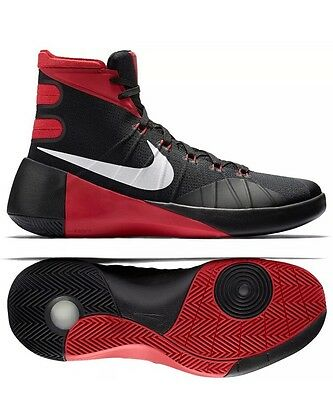 e1f42a3a3a1 Nike Hyperdunk 2015 Black Red Sz 11.5 Men s Basketball Shoes Gym Bred 749561 -006