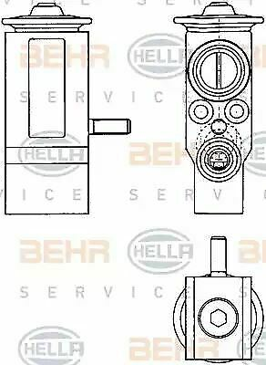 Genuine OE Hella AIR CONDITIONING EXPANSION VALVE 8UW351303-381 OE 7701046978