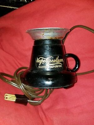 ANTIQUE VAPO CRESOLENE ELECTRIC VAPORIZER base