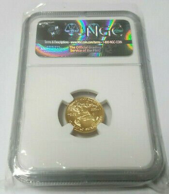 2016 NGC MS70 1/10 oz $5 Gold Eagle - 30th Anniversary First Strike Gold Coin