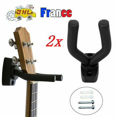 Support Mural Universel Stand Crochet Fixation pour Guitare Basse