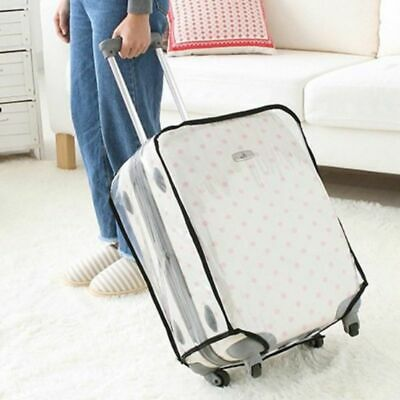 Transparent Waterproof PVC Travel Outdoor Luggage Protector Suitcase Cover AU