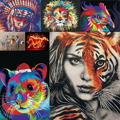 HOT! Animal Printed Unframed Paint By Number Kit Digital Oil Painting On Canvas