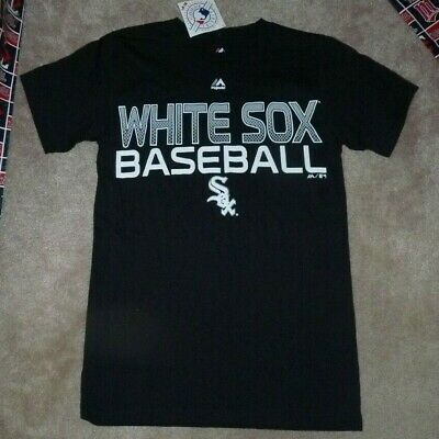 eac2c3f5d3f NEW MLB Chicago White Sox Baseball T Shirt Men S Small Majestic -Black - NEW