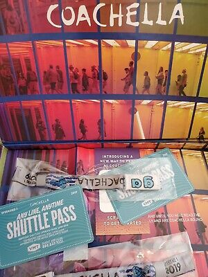 1 Coachella 2019 Weekend 1 Ticket -  GA - 3 Day Pass with 1 Shuttle pases