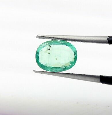 1.15 Ct Certified Natural Emerald Oval Shape 8.07 x 6.15 mm Loose Gem