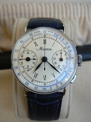 Minerva Chronograph Caliber Angelus 210 Men´s Vintage