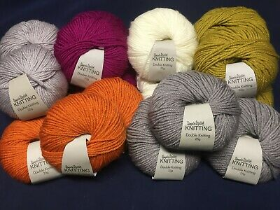 Choose Your Colour 100g Wool 200 Metres Double Knit Knitting Yarn Balls DK