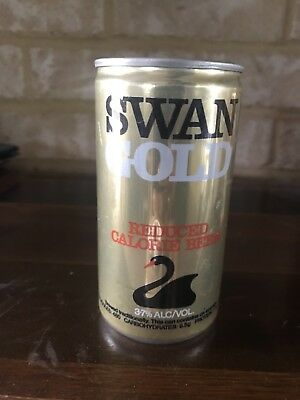 Collectable Swan Gold Lager Reduced Calorie BEER CAN 375ml