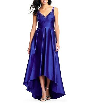 Adrianna Papell High Low Ball Gown  229$  Size 4 # 10A 202 NEW