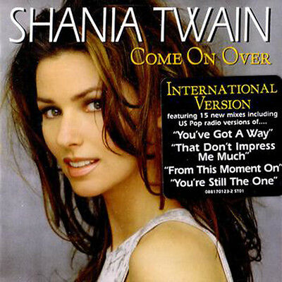 """Shania Twain """"Come on Over"""" International version CD  *NEW* + now w/Free Gift!"""