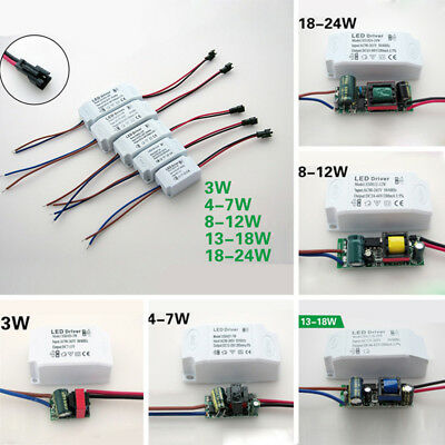 LED Driver Adapter AC90~265V Transformer Panel Power Supply LED Strip 3-24W 1x