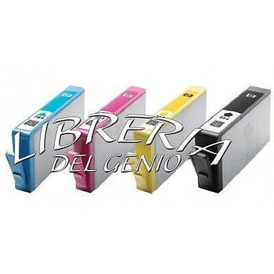 4 CARTUCCE PER HP 364 XL CON CHIP Officejet 4620 4622 Photosmart 5510 5515 5520