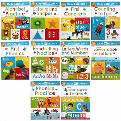 preschool early learning wipe clean 10 books ages 3-5 alphabet numbers phonics