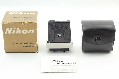 [MINT IN BOX] Nikon Waist Level Finder  with Leather Case From Japan #95