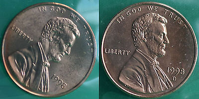 1998 P and D Lincoln Cent 2-Coin from US Mint Set UNC Cello One Cent Penny Set
