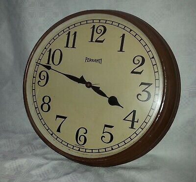 12 inch electric wall clock 1930s  Ferranti Ltd