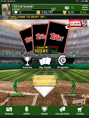 Topps Digital Bunt,Kick,Skate,,Huddle,UFC,TWD, or Slam. Any 9 cards for $ 1.25