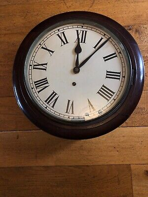 12 inch Face Mahogany German Wall Clock  C.  1910