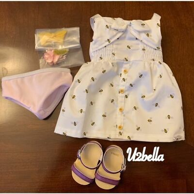 American Girl Doll Blaire Meet Outfit Dress Sandals Bracelet Comb Panties