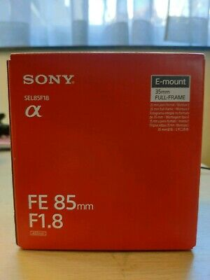 UK SELLER Sony FE 85mm f/1.8 Lens (SEL85F18) NEW AND SEALED