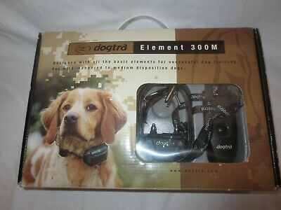 Dogtra Element 300M Black Training Collar With Remote & AC Charger