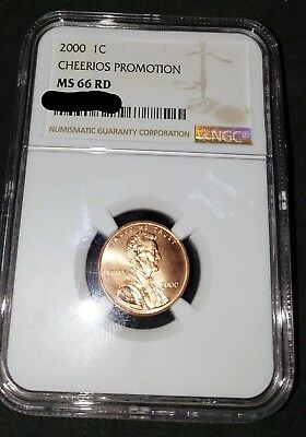 2000 CHEERIOS Promotional Lincoln Cent NGC MS66 - LOWEST PRICE around!!!