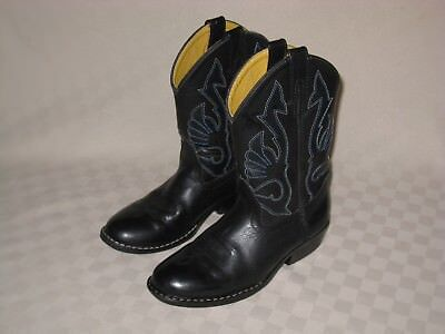 405a9287941 MASTERSON BOOT CO Boys Youth Sz 4 Brown Black Western Cowboy Boots ...