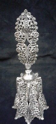 PERFUME BOTTLE Antique Rare Filigree Edwardian Silver Filigree Perfumr Bottle