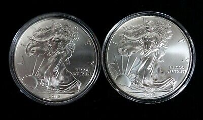 2013 And 2015 Uncirculated Silver American Eagles  AUCTION!