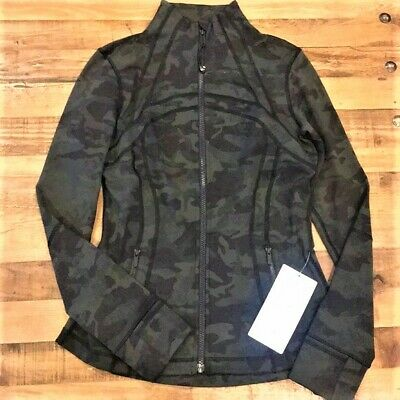 NWT Lululemon Define Jacket Zipper ICMI Incognito Camo Multi Gator Green Size 4
