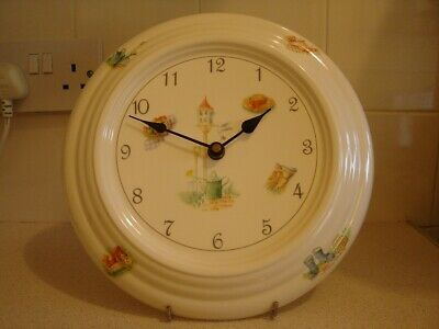 Aynsley Bone China Wall clock Edwardian Kitchen Garden(Working order) FREE POST