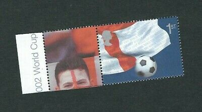 GB 2002 SG LS8 World Cup Football Smiler Single Stamp With Label(vary) Litho MNH