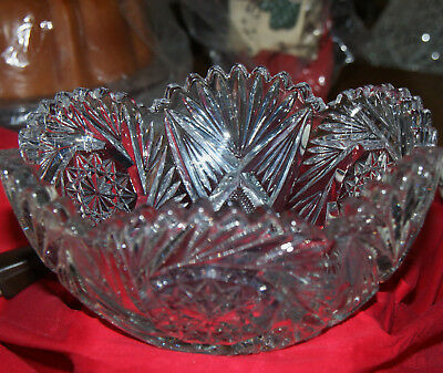 Pressed Glass or Crystal Vintage Center Table Bowl or Candy bowl