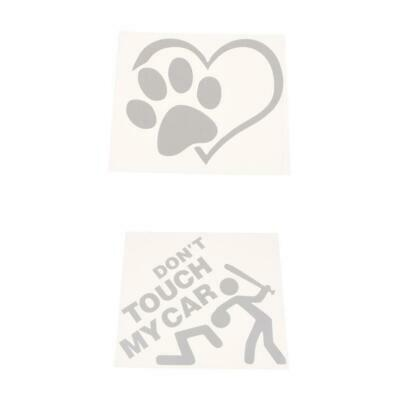 DONT TOUCH MY CAR Vinyl Graphic Decal Bumper Sticker +Pet Paw Decal