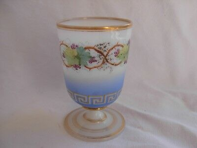ANTIQUE FRENCH OPALINE CRYSTAL ABSINTHE GLASS,MIDDLE 19th CENTURY