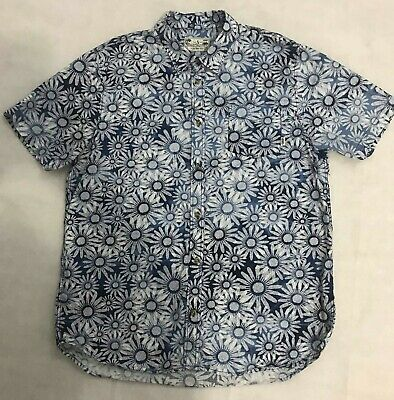 a765aa3bb3 Vans Joel Tudor Collection Men s Floral Blue Short Sleeve Button Up Shirt  Size L