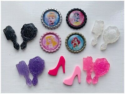 Job Lot Princess Disney Bottle Cap Flat Back Resin Embellishments bows Crafts
