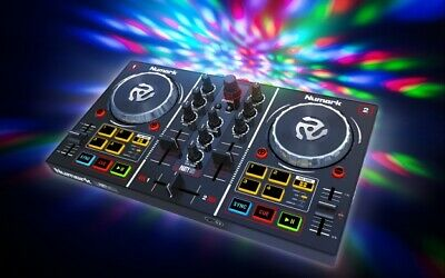 Numark PARTY MIX DJ Controller with LED Effects Lights - NEW!
