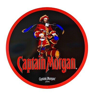Captain Morgan Sign - New Design - 24 inch diameter metal sign