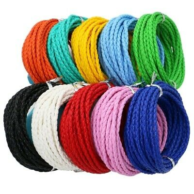 5m/lot 3mm Round Braided Leather Cord For Bracelets Necklace Quality Rope Thread