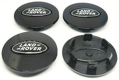 LAND ROVER coppette Tappi borchie Coprimozzo DISCOVERY VOGUE EVOQUE 63 mm Nero