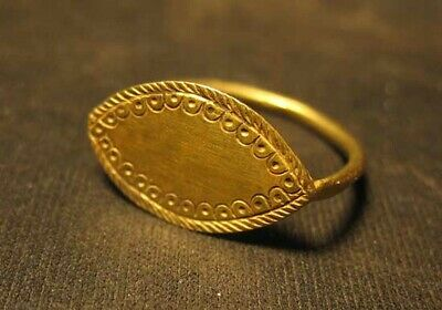 Antique gold ring  Solar ring  Metal detector finds 100% original