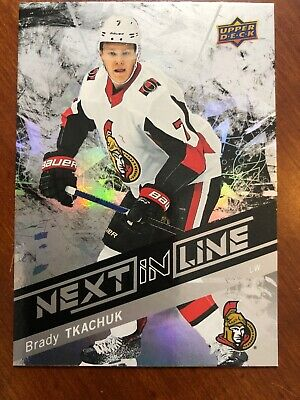 2018-19 UD Overtime Hockey Next In Line Rookie #NL-5 Brady Tkachuk