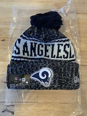 sale retailer fb8b4 da75b 2018 Los Angeles Rams New Era NFL Knit Hat On Field Sideline Beanie Hat