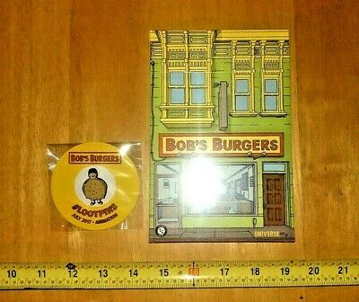 Loot Crate Edition Bob's Burgers Recipe Cards in a Box And Loot Crate Pin Sealed