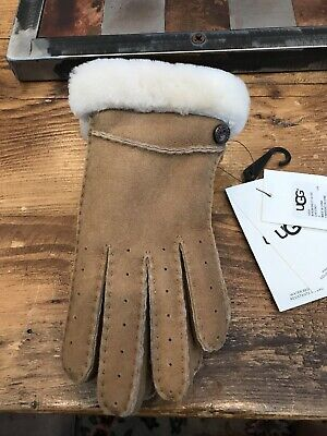 Women's UGG New Bailey Shearling Gloves - Chestnut Size Small